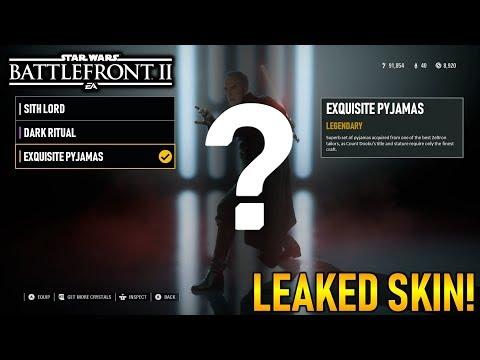 EXQUISITE PYJAMAS SKIN LEAKED! Count Dooku Third Skin- Star Wars Battlefront 2 thumbnail