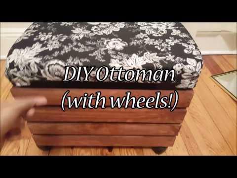 DIY OTTOMAN UNDER $25 (with wheels)