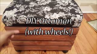 DIY OTTOMAN UNDER $25 (with wheels)