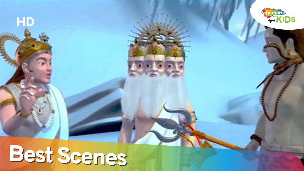 बाल गणेश और ब्रह्मदेव के दृश्य 2  | Bal Ganesh and Brahmdev Best Scene 2 | Shemaroo Kids Hindi