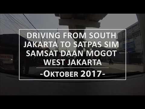 DRIVING FROM SOUTH JAKARTA VIA TOLL TO SATPAS SIM SAMSAT DAAN MOGOT WEST JAKARTA (FULL RIDE)