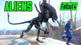 Fallout 4 - ALIENS OF THE COMMONWEALTH! - NEW CREATURES & COMPANION!