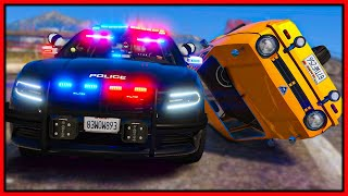 GTA 5 Roleplay - FLIPPING CAR INTO COPS | RedlineRP