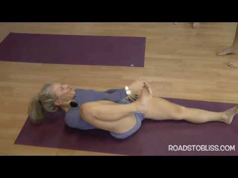 Supta Padangusthasana  to Anantasana with Carrie Owerko , Senior Intermediate Iyengar Yoga Teacher