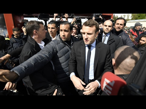 France Presidential Election: Macron, Le Pen visit closed Whirlpool factory