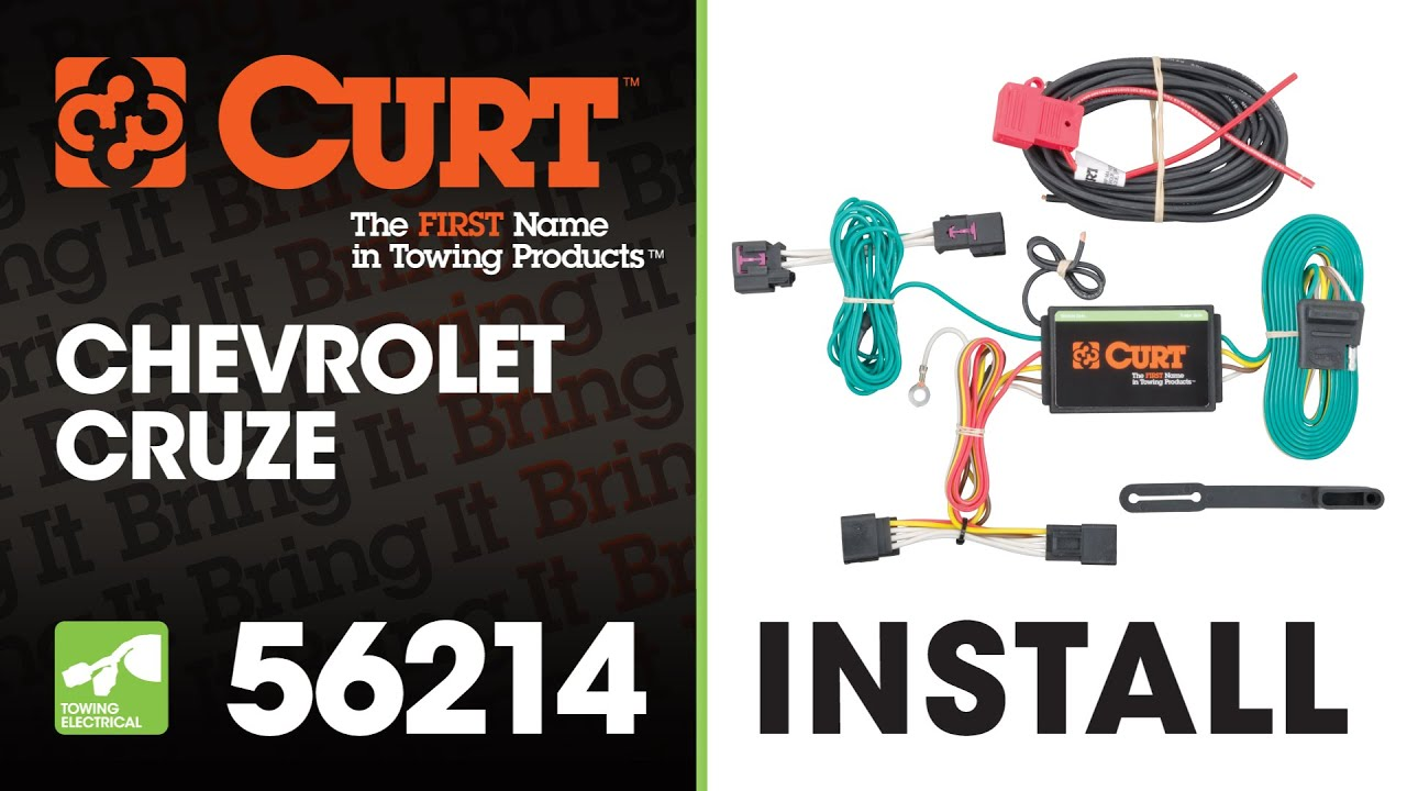 Trailer Wiring Install Curt 56214 On A Chevy Cruze Youtube