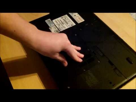 How to Upgrade the RAM Stick in a Laptop Toshiba satellite