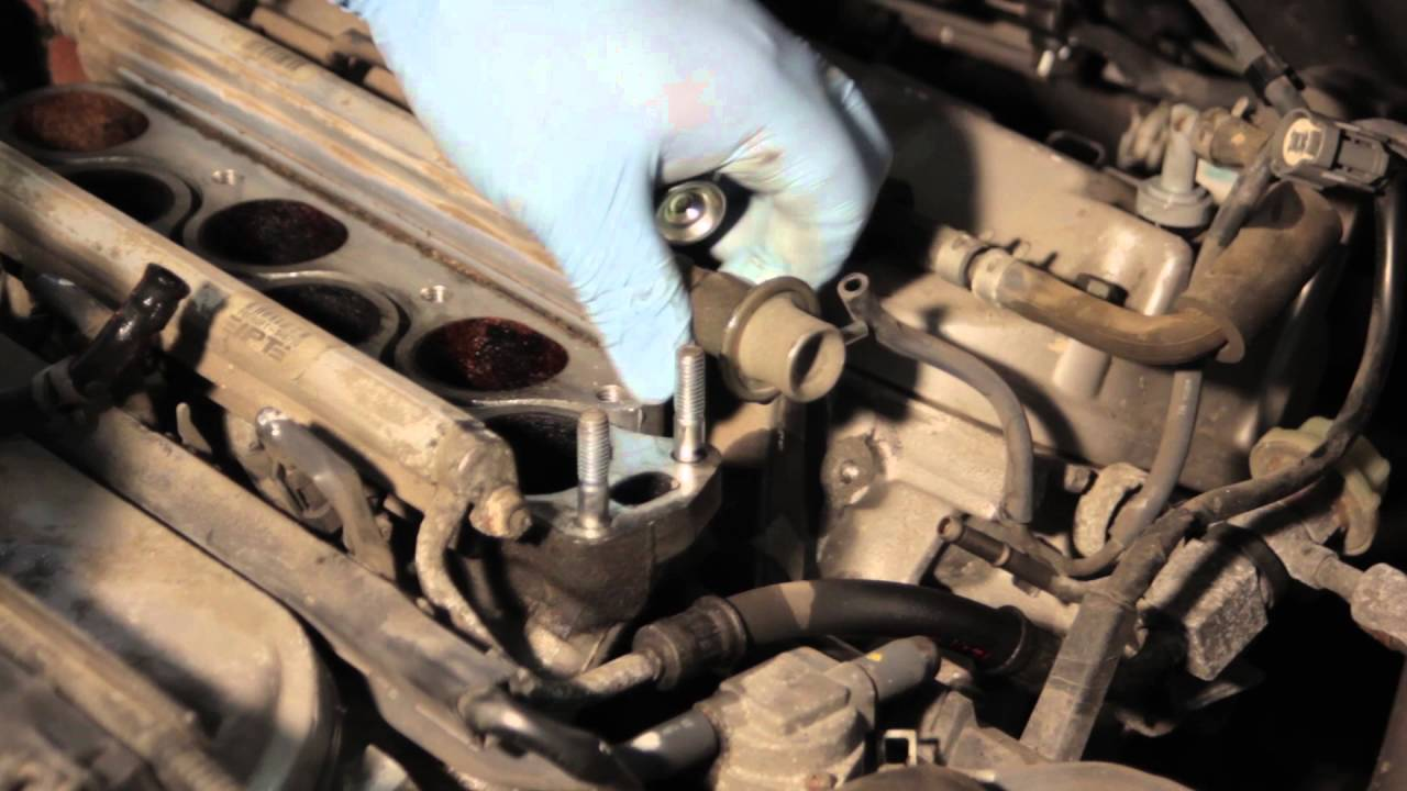 2003 Honda Accord Fuel Filter Location Honda 3 5l Fuel Pressure Regulator Replacement Youtube