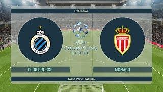 PES 2019 / CLUB BRUGGE VS MONACO UEFA Champions League 2018 HD / All Goals / Gameplay PC
