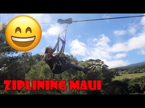 Ziplining Maui 😄 (WK 343.6)   Bratayley