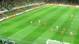 Direto do Ellis Park - Primeiro Gol do Brasil na Copa da Africa do Sul - 2010