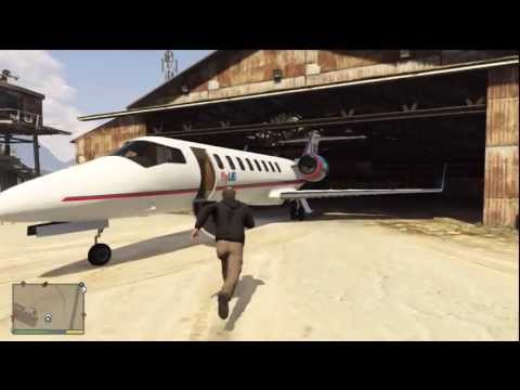 GTA V flyUS JET Take off, Tour and Landing