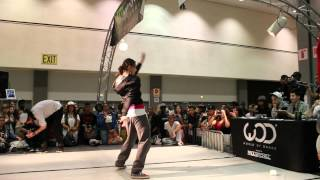 "Les Twins ""Larry"" vs Marie ""Poppins"" All Styles Battle WOD 2012"