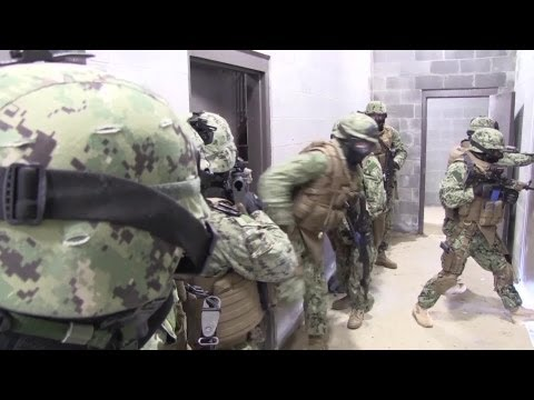US Navy Seabees Train at Urban Warfare Facility