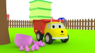 Wata Cukrowa - ucz się z Małymi Samochodzikiami: buldożer, dźwig, koparka