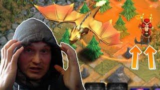 GOLDENER DRACHE BESIEGT MEINE WALKÜREN QUEEN! 😂 Clash of Clans
