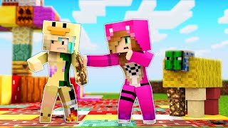 Minecraft pero TODO lo que TOCO se VUELVE ALEATORIO con @Lyna ❓  MINECRAFT ALEATORIO