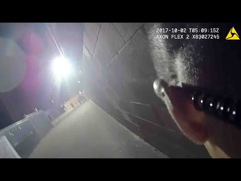 Dramatic police bodycam footage shows chaos of Las Vegas massacre
