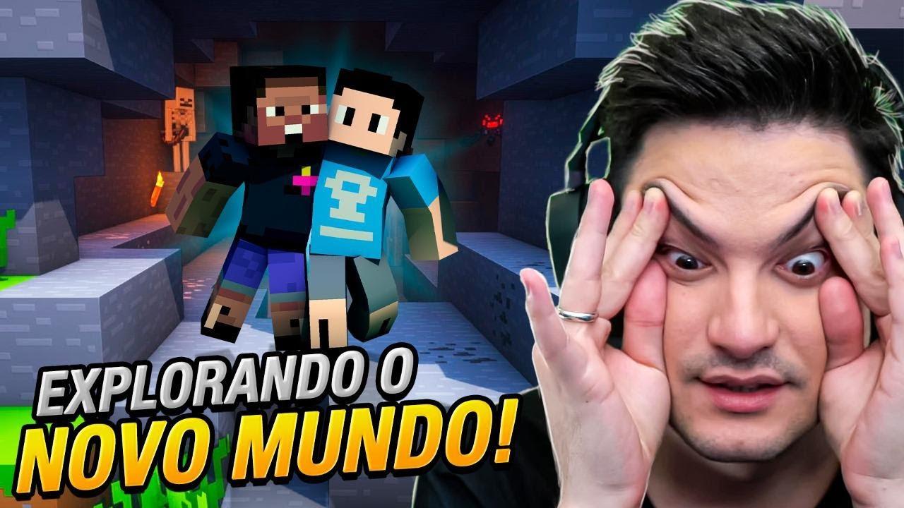 EXPLORANDO O NOVO MUNDO COM O BRUNO! Minecraft #11 #T2