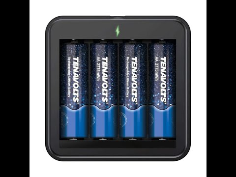 only-$11.90-4-count-tenavolts-rechargeable-aa-lithium-batteries-w/-charger-#amazon-#batteries-#aa