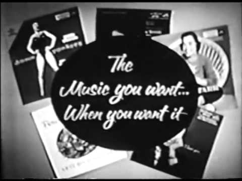 VINTAGE 1956 RCA RECORDS COMMERCIAL