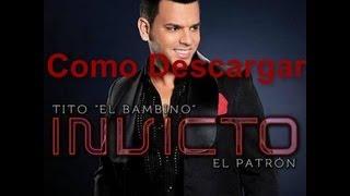 Descargar Tito El Bambino El Patrón - Invicto (2012) Completo