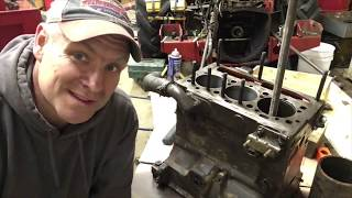Changing cylinder sleeves on a perkins 152 / Massey 231