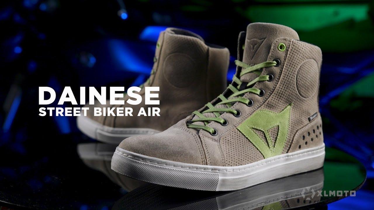 Schuhe Dainese Street Biker Air Carbon Rot