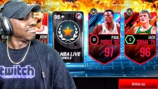 LEGENDARY PACK OPENING & 97 OVR PAUL PIERCE! NBA Live Mobile 16 Gameplay Ep. 116
