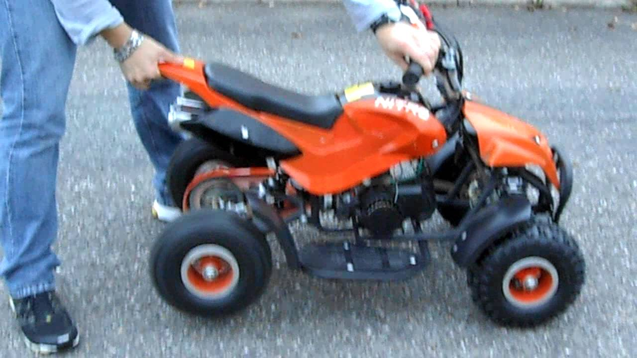 d marrage pocket quad 50cc youtube
