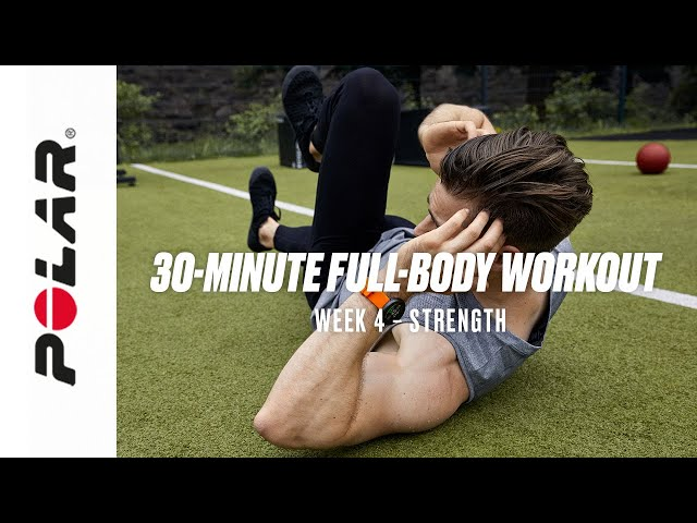 30-Minute Full-Body Strength Workout (At home, Workout with warm-up, Week 4) | Polar