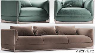 "№144. Sofa modeling "" Foscari_visionnaire "" Autodesk 3ds Max & marvelous designer"
