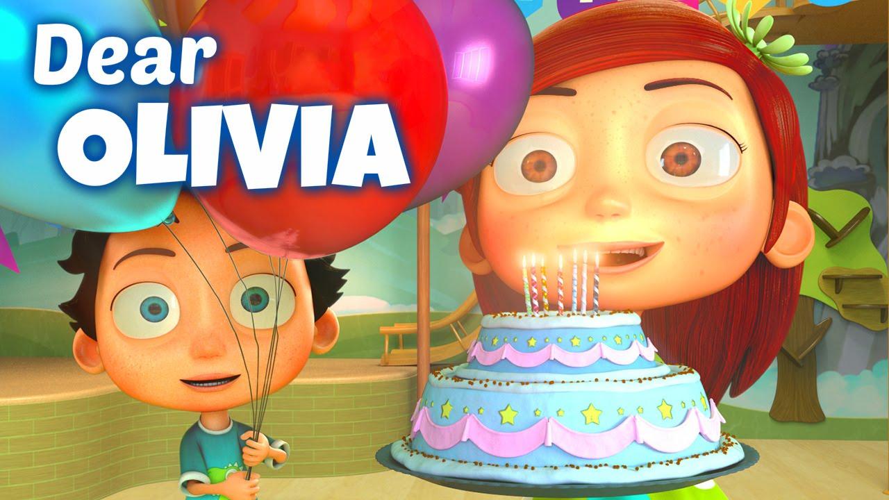 Happy Birthday Song To Olivia Youtube