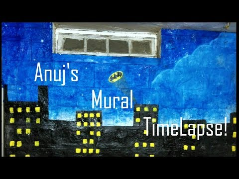 Anuj's Mural (Wall Painting) Time lapse!