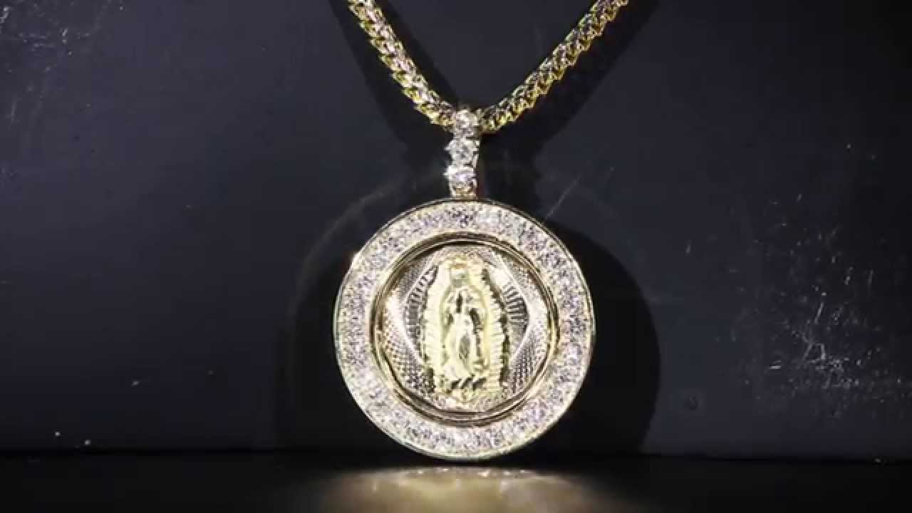 Virgin mary guadapula diamond pendant youtube virgin mary guadapula diamond pendant aloadofball Choice Image