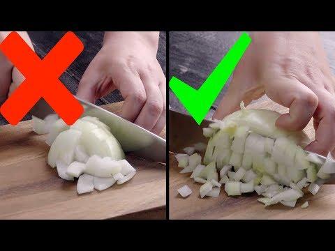 Как резать овощи: