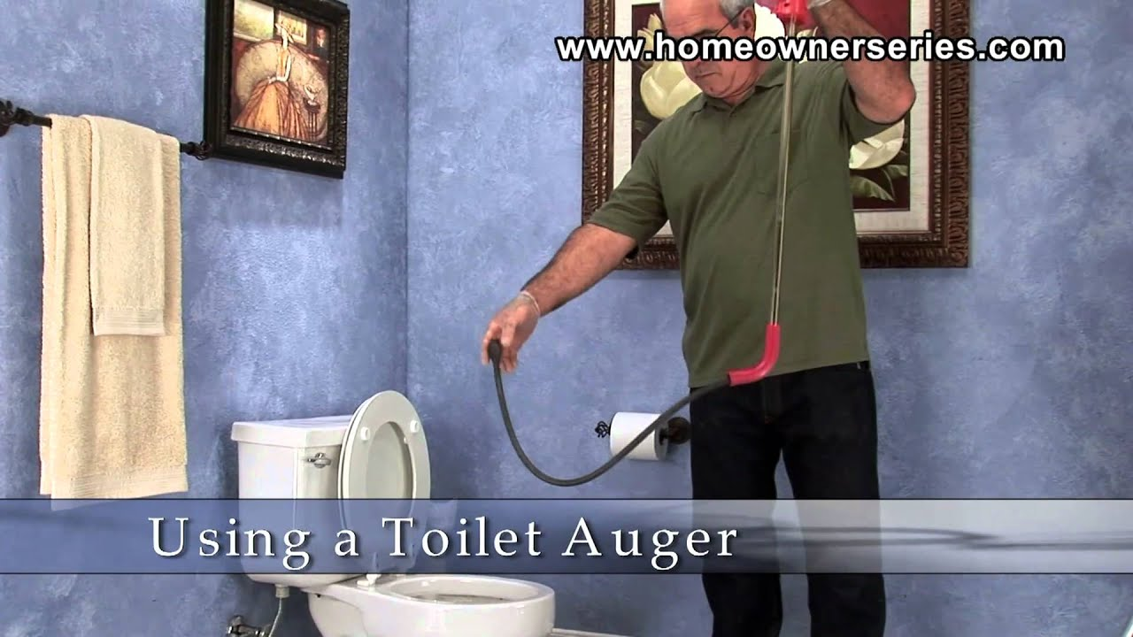 How to Fix a Toilet - Unclogging a Toilet - Auger - YouTube