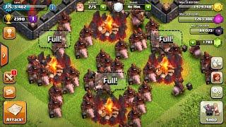 Clash of Clans Mass Hog Rider Raid - These Boys Mean Business!