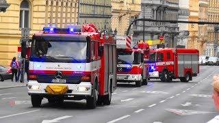 2x CAS 24 + CAS 20 + AŽ 37 HZS Praha HS-1 + Policie ČR