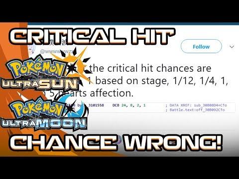 THE CRITICAL HIT MECHANIC WAS WRONG ON POKEMON SHOWDOWN! Pokemon Ultra Sun and Moon!