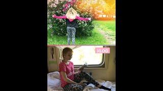 VLOG//поезд,книга,еда