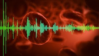 Blood testing via sound waves