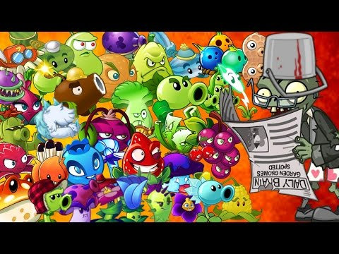 Plants vs. Zombies 2 it's about time: Newspaper Zombie vs Every Plant Power Up