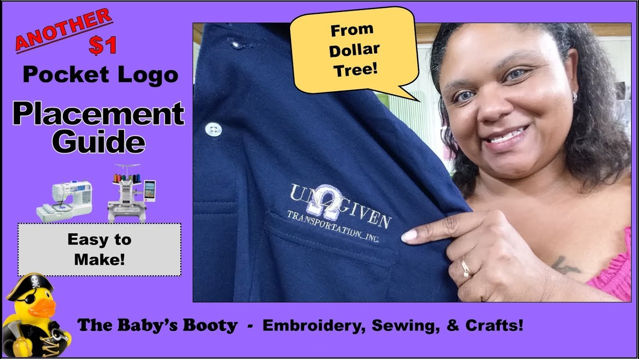 Polo Shirt Pocket Logo Placement Guide For 1 Diy From The Dollar Tree