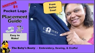 Polo Shirt Pocket logo placement guide for $1 DIY from the Dollar Tree!
