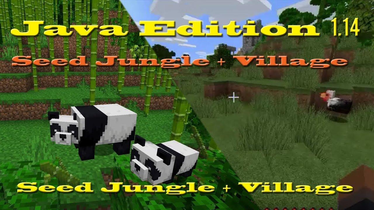 Seed Minecraft 1 14 Floresta De Bambu Com Vila Bamboo Forest