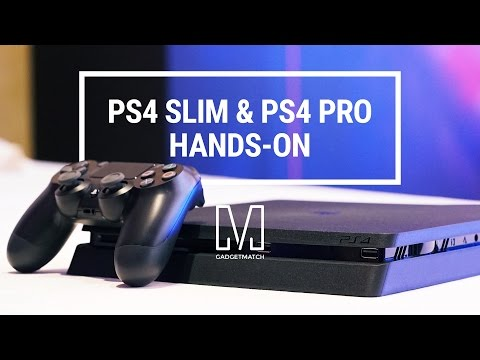 PlayStation 4 Pro and Slim Hands-On