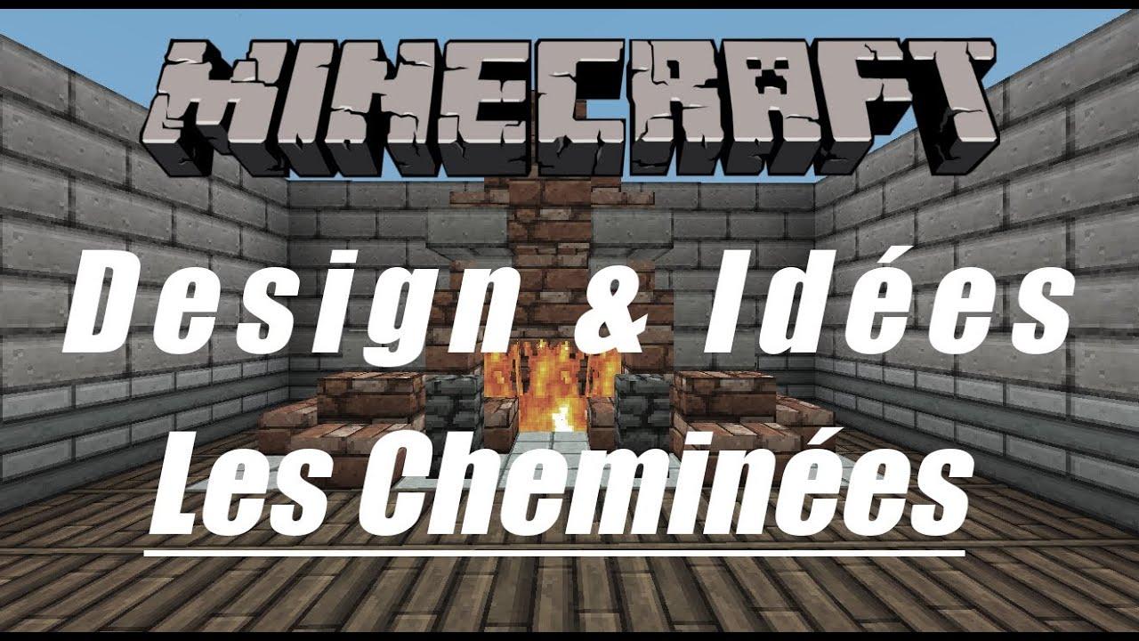 Minecraft   design & idées   les cheminées   youtube
