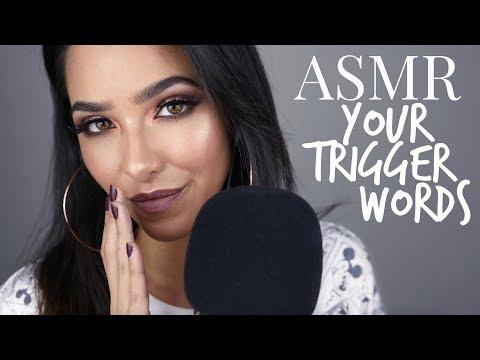 ASMR Trigger Words YOU Chose!