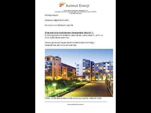 Solar enerji izmir - Azimut Enerji A.Ş. ve sektör hakkında bilgiler www.azimutsolarenerji.com.tr